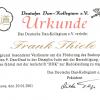 """Urkunde """"Verleihung des 9. Dan-Grades"""", 2001"""